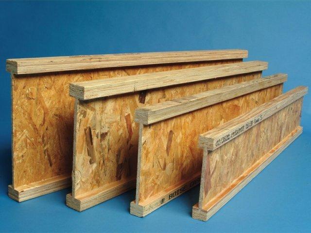 Двутавровые деревянные балки перекрытия